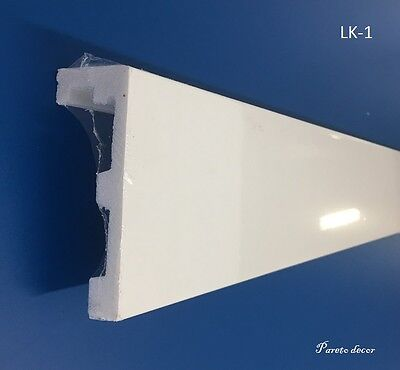 6 Meter Gardinenleiste LED Wand Weiß Stuckleiste Dekor Stange Hotel Fenster