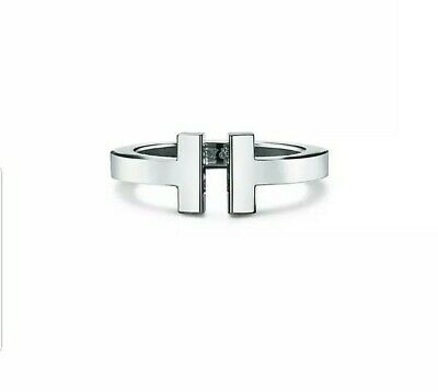 Tiffany&Co T Square Ring In 18K White Gold 6