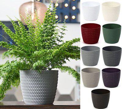 Plant pot cover indoor plastic rattan flower cover round modern decor planter 2