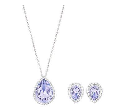 b760b7294 ... 2 available Swarovski Christie Set, Pendant/Earrings Lavender Color Crystal  MIB 5118946 3