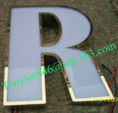 Custom stainless steel signs with LED, outdoors illuminated channel letters, 2
