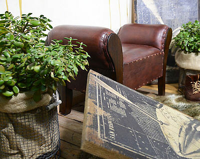 Chaise Lounge Seater Chair Bench Ottoman Pouffe Stool Brown Teak Colonial 4