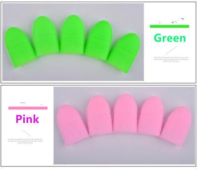 5pcs/set UV Gel Polish Remover Wraps Soak Off Cap Clip Nail Art Manicure Tools 3