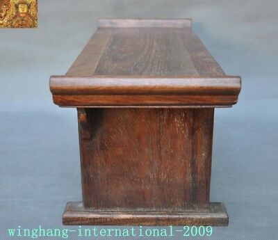 Chinese Huanghuali Old wood carved Phoenix Bird drawer coffee table Desk statue 8
