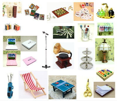 Dolls House Miniature Scaled Model Mini Fairy Garden Tools Accessories Decor DIY 11