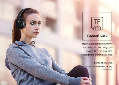 Wireless Bluetooth Headphones Foldable Stereo Earphones Super Bass Headset Mic 8