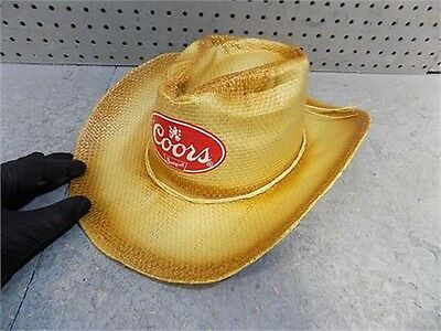 4 4 of 6 Coors Banquet Beer Straw Cowboy Hat Osfa - New! 5 62f197ab33b