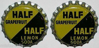 Soda pop bottle caps Lot of 25 KINGS COURT LEMON SOUR cork lined new old stock