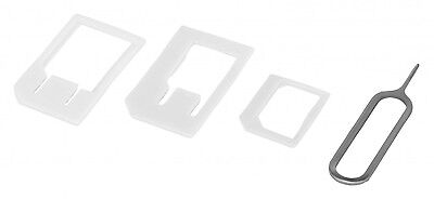 Neu Click-System Universal Sim Karten Adapter Set Nano Micro Handy Tablet Z12 3