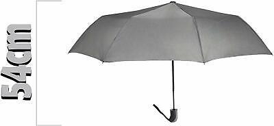 🌂Ombrello Mini Portatile Grigio Apertura Automatico Antivento Pioggia Cod.8065 2