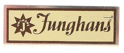 JUNGHANS DISPLAY METALLSCHILD FÜR JUWELIERE - SAMMLERSTÜCK  50er Jahre