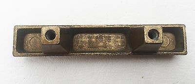 "Brass Mid Century Modern Drawer Pull Vintage  Antique Hardware  1 3/4"" centers"