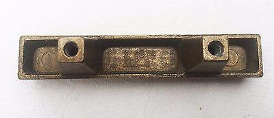 """Brass Mid Century Modern Drawer Pull Vintage  Antique Hardware  1 3/4"""" centers 5"""