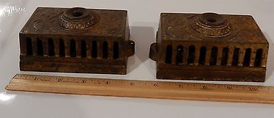Pair of Antique Eastlake Victorian Cast Iron Doorbells 2