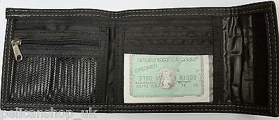 Men'S Soft Faux Black Leather Folding Wallet Black Slim Bifold Card Coin Purse