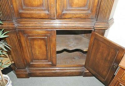 XL Tudor Jacobean Corner Cabinet Oak Farmhouse 2