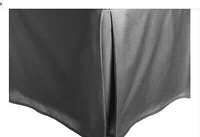 Solid Faux Silk Bed Skirt Queen King Size Dust Ruffle Bedding 14