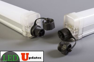 LEDUPDATES Walk in cooler 4FT TRI-PROOF 30W LED Tube Ceiling waterproof 3000LM