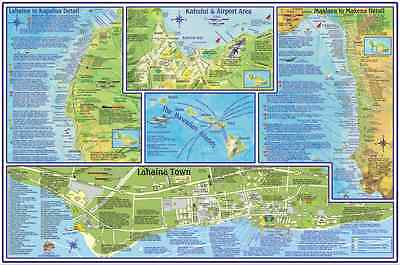 Hawaii Map Maui.Maui Hawaii Adventure Guide Map Waterproof By Franko Maps 7 99