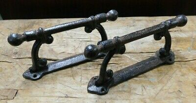 2 HUGE Cast Iron Antique Style CABLE Barn Handle, Gate Pull, Shed Door Handles 4