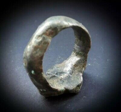 RARE ANCIENT ANCIENT HEAVY NEAR EASTERN GOLD BRONZE RING 1st CENTURY BC 3