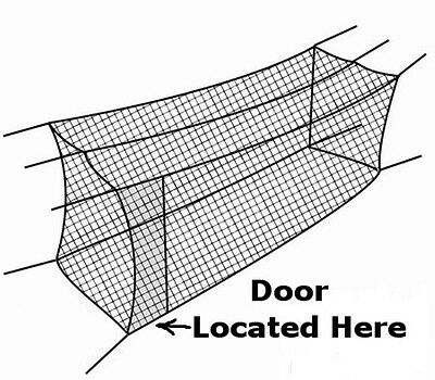 Batting Cage Net 10' x 12' x 60' #24 (42PLY) with Door & FRAME Baseball Softball 3