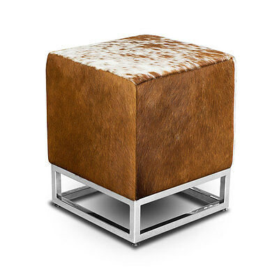 Bauhaus Leder Sitzhocker Beistellhocker Zustellhocker Leder Braun