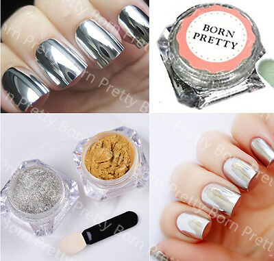 Nail Glitter Mirror Powder Dust Pearl Nail Art Chrome Pigment Decoration DIY 2