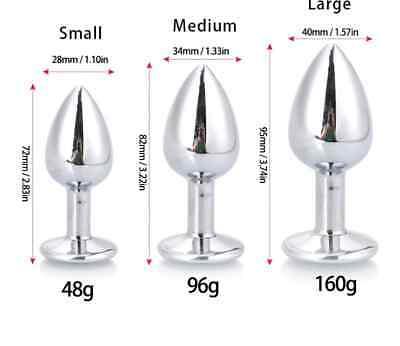 Plug Acciaio Con Cristallo A Forma Circolare Taglia Large 4