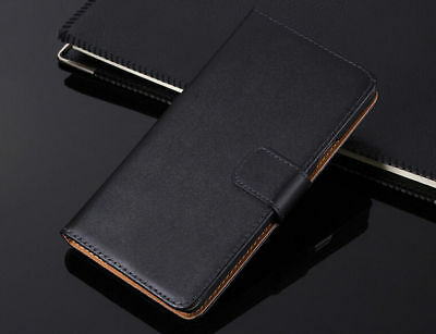 Genuine Leather Flip Wallet Case Cover For Samsung Galaxy S7 S8 S9 S10+ Note 8 9 9
