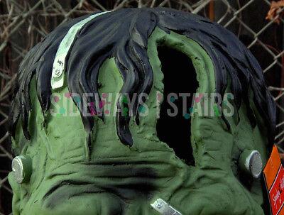 "13.5"" LIGHT-UP FRANKENSTEIN MONSTER HEAD HALLOWEEN PROP decoration horror rare 5"