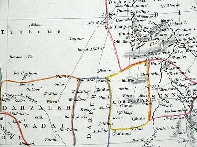 NORTHERN & CENTRAL AFRICA, Sharpe original antique map 1849