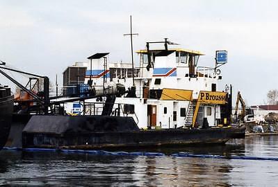 PIERRE BROUSSE. Rhein Schubschiff. Modellbauplan