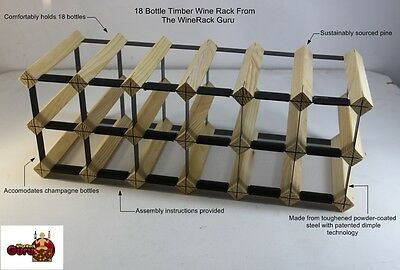 14 OR 18 Bottle Timber Wine Rack -Genuine BORDERS Product - 100% Australian 2