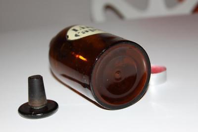 Apothekerflasche, Form selten, rund, alt, LINIMENT. CAPSICI CMP SCHLIFF STOPFEN 3