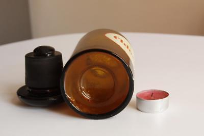 Apothekerflasche, Form selten, rund, alt, CHLORAMIN SCHLIFF STOPFEN breite 2