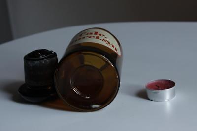 Apothekerflasche, Form selten, rund, alt, CALC. DIURET. SYN. SCHLIFF STOPFEN