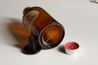 Apothekerflasche, Form selten, rund, alt, ACID. FORMICIC. SCHLIFF STOPFEN