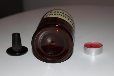 Apothekerflasche, Form selten, rund, alt, LINIMENT. CAPSICI CMP SCHLIFF STOPFEN 4