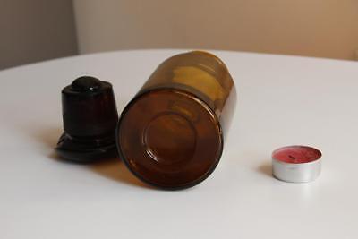 Apothekerflasche, Form selten, rund, alt, KALIUM SULFURIC. SCHLIFF STOPFEN