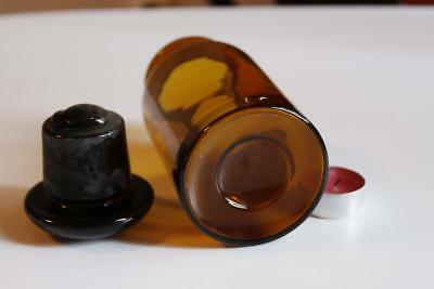 Apothekerflasche, Form selten, rund, alt, FERR. LACTIC. SCHLIFF STOPFEN 2