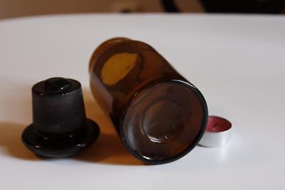Apothekerflasche, Form selten, rund, alt, TALCUM, SCHLIFF STOPFEN 2