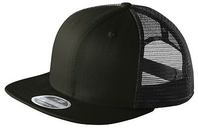 ... New Era 9FIFTY Mesh Snapback Hat Original Fit Trucker Cap Blank Flat  Brim 950 2 fea8da677845