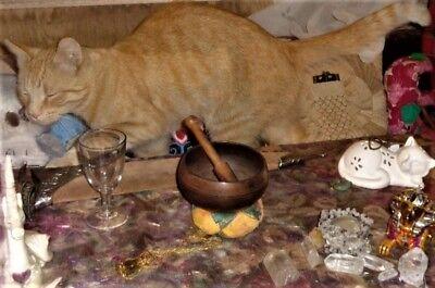 "Lavender Smudge Stick 4-5"" + LAPIS LAZULI, Hand Picked Handmade & Blessed, Reiki 4"