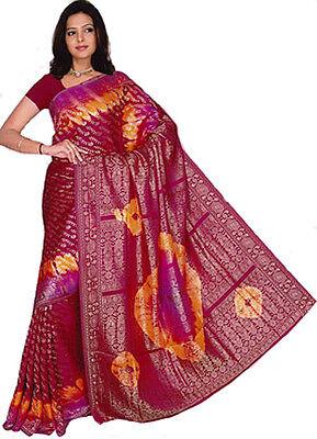 Fertig gewickelter Sari Di Bollywood India Multicolore 3 dimensioni 2