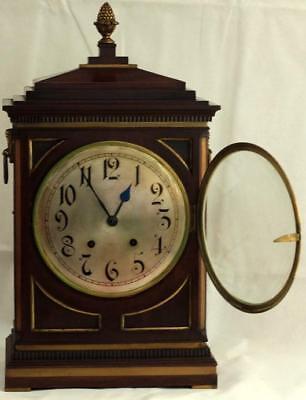 Antique Mahogany 8 Day Bracket Clock Winterhalder & Hofmeier Schwarzenbach 2