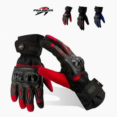 Guantes Térmico con Protección de Carbono Impermeable Invierno Moto Motocicleta