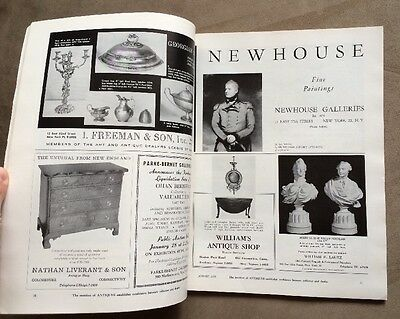 Rare ANTIQUES  Magazine from January 1960 Vol. LXXVII, No. 1 Collector's Guide 7