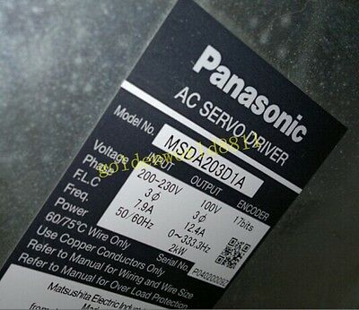 MSDA203D1A Panasonic AC Servo Driver good in condition for industry use 2