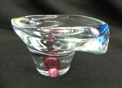 Vintage Pair of Stunning Art Glass Gorgeous Design Vases Murano Glass 3